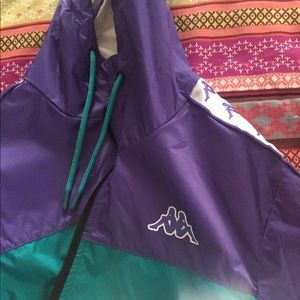 Kappa brand teal and purple windbreaker 🎐